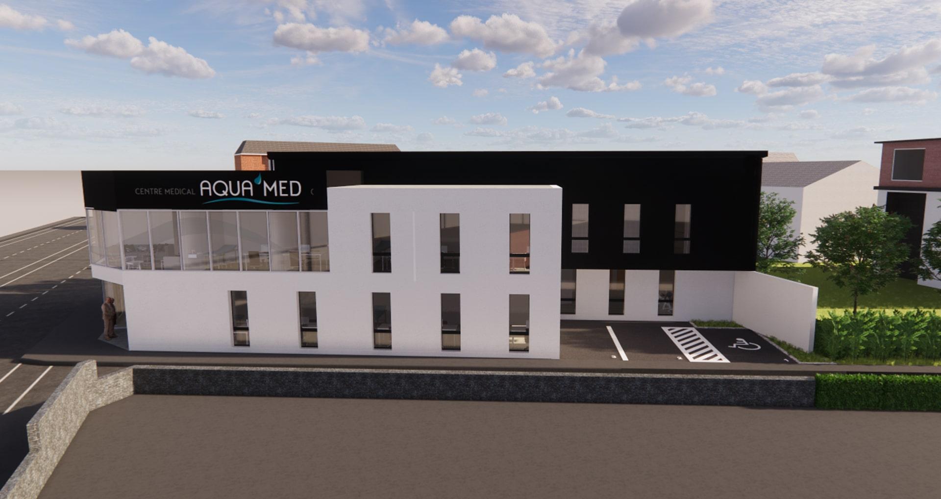 Architecte Lille construction Centre Medical kine Nord VR-architecture